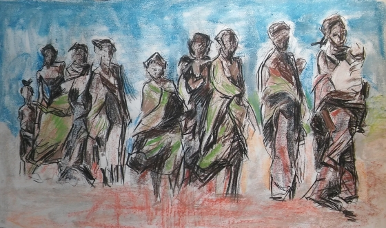 Refugees (study for painting)
