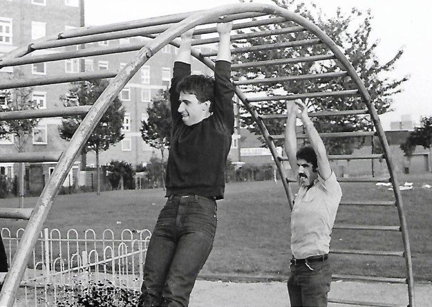 f george and tony in park