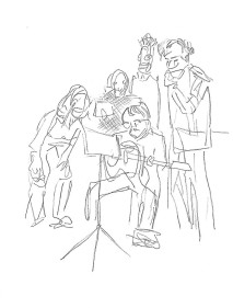 Greenwich Theatre Group drawings (8)